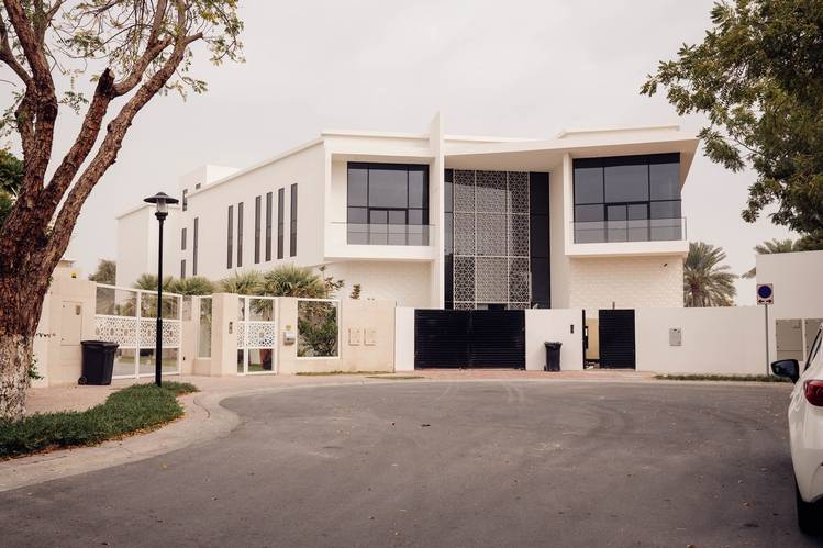 Villas in the Emirates Hills gated community in Dubai.